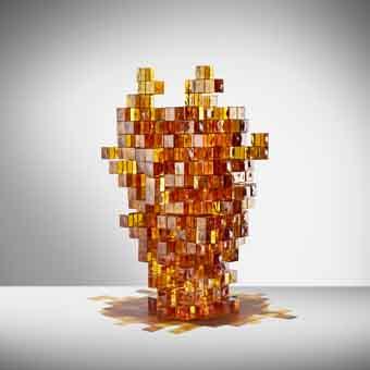 studio nucleo_presenze_glass vase_orange_preview