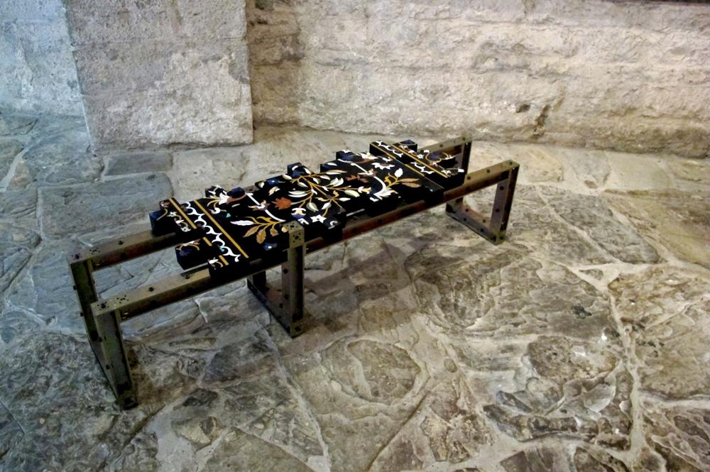 piergiorgio Robino marble bench